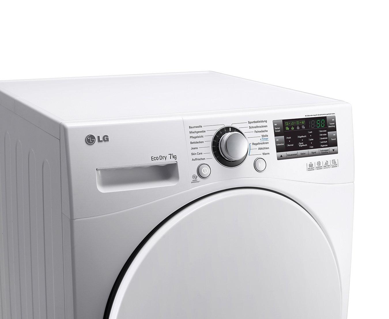 Lg rc 7055 ah1z wärmepumpentrockner a 7 kg selbstreinigender
