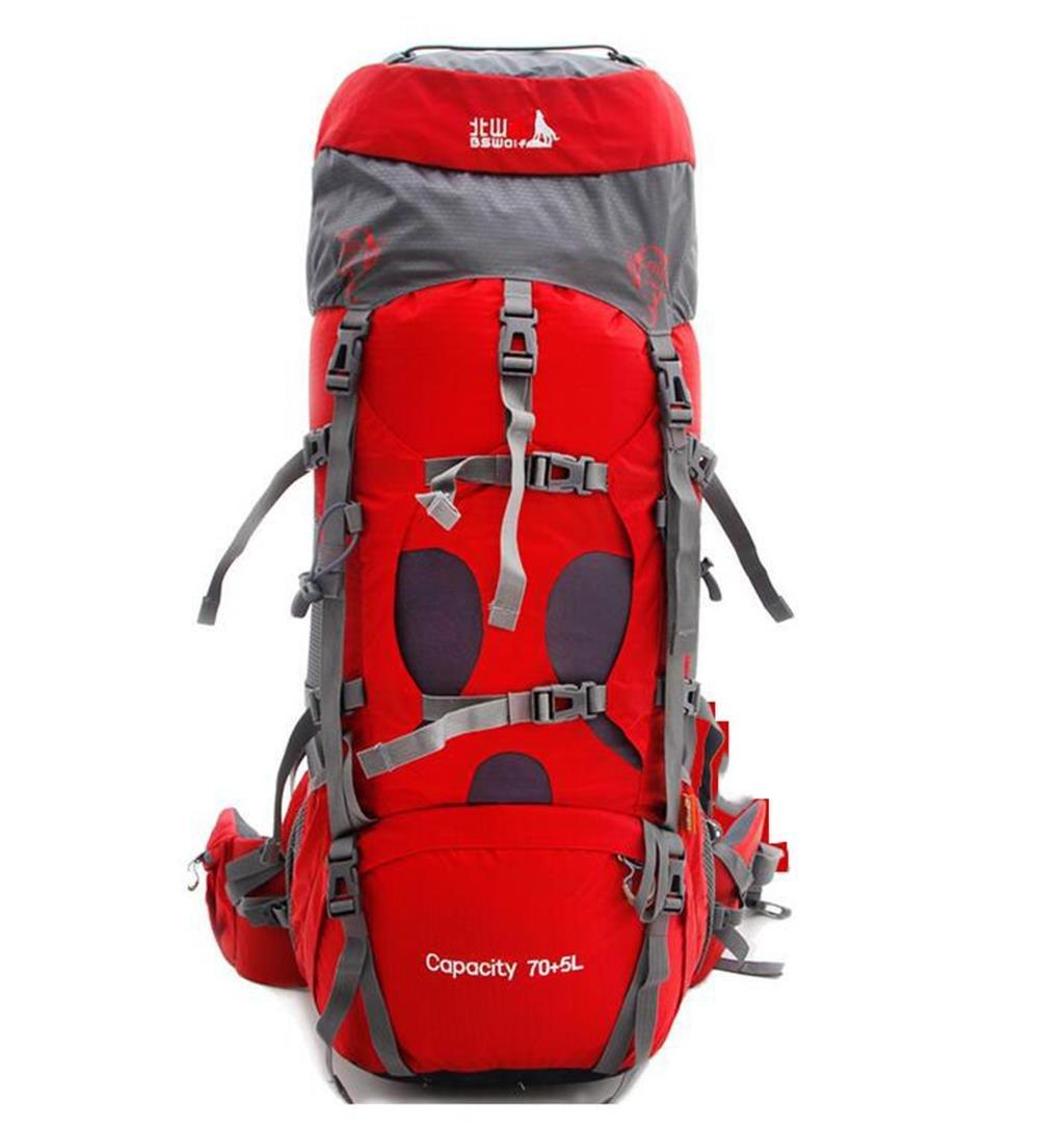 ハイキングバッグ 登山バッグの男性と女性のショルダーバッグ旅行バッグ大容量75キャンプバックパック とざんばっぐのだんせいとじょせいのしょるだ゜ばっぐりょこうばっぐだいようりょう75きゃんぷばっくぱっく ハイキングバックパック ( 色 : The Hawthorn Red , サイズ さいず : 75L ) 75L The Hawthorn Red B07BTGLFMY