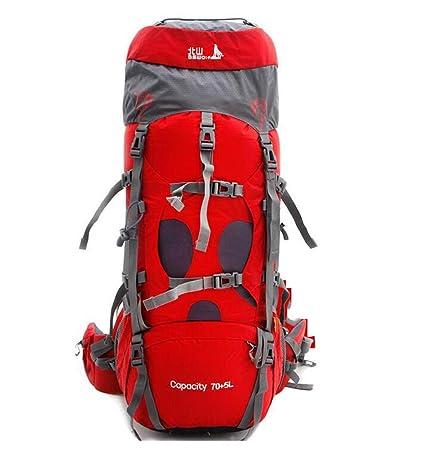 mochilas montaña bolso del alpinismo hombres y mujeres bolsa de hombro bolsa de viaje de gran capacidad mochila 75L que acampa Mochilas de marcha (Color ...