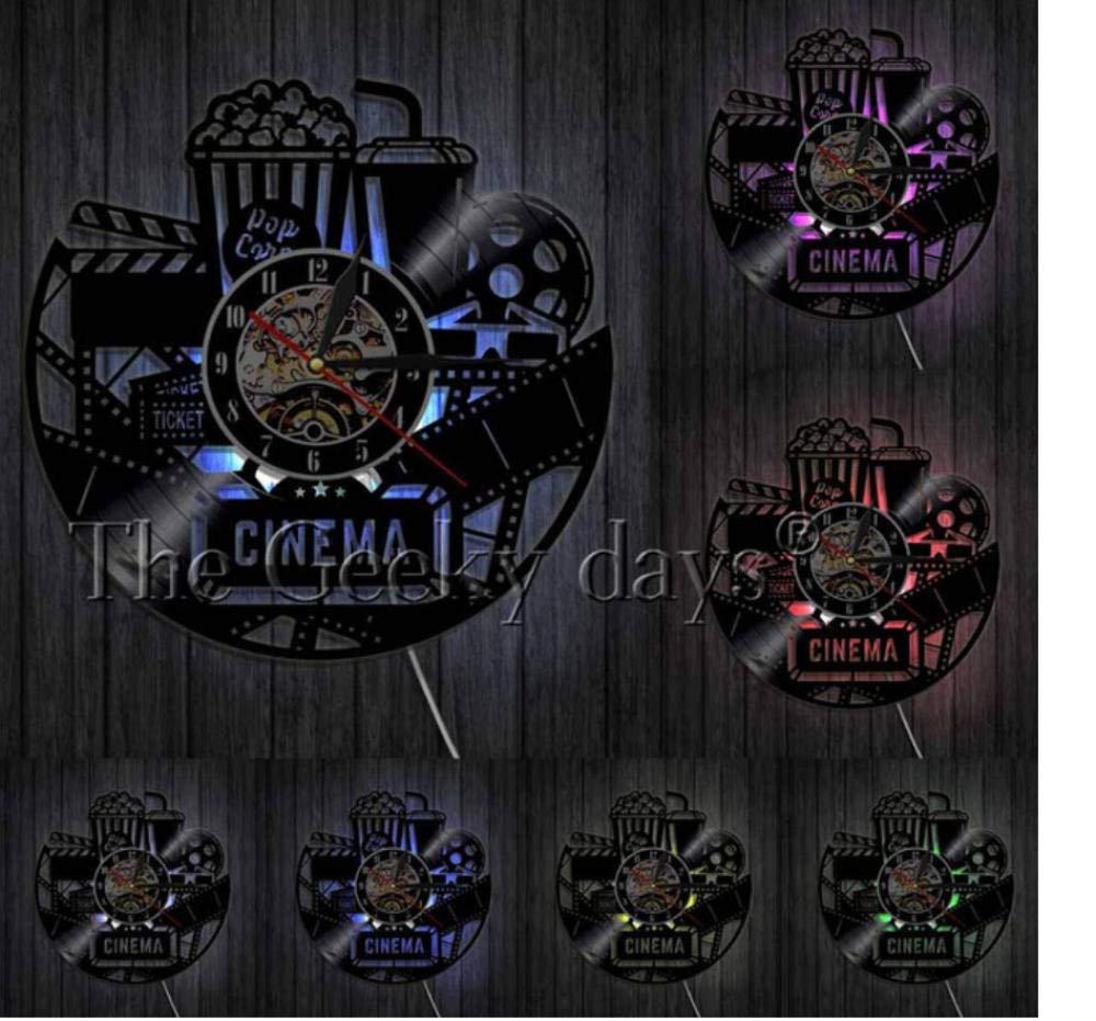 HHYXIN Reloj De Pared De Vinilo Cartel De Cine Reloj De ...