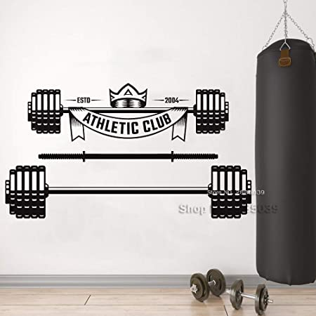 Modeganqingg Sports Club Applique Barbell Tatuajes de Pared ...