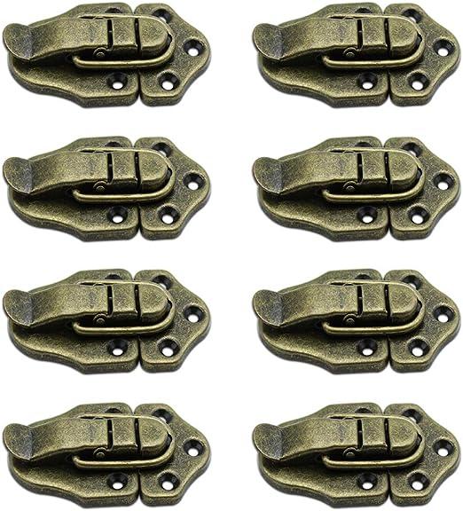 LumenTY 8 Piezas antiguo bronce Cerradura Cierre para Hardware ...