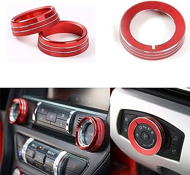GZXinWei Aluminum Alloy Head Light Switch Button Cover Ring Decoration Trim,Blue
