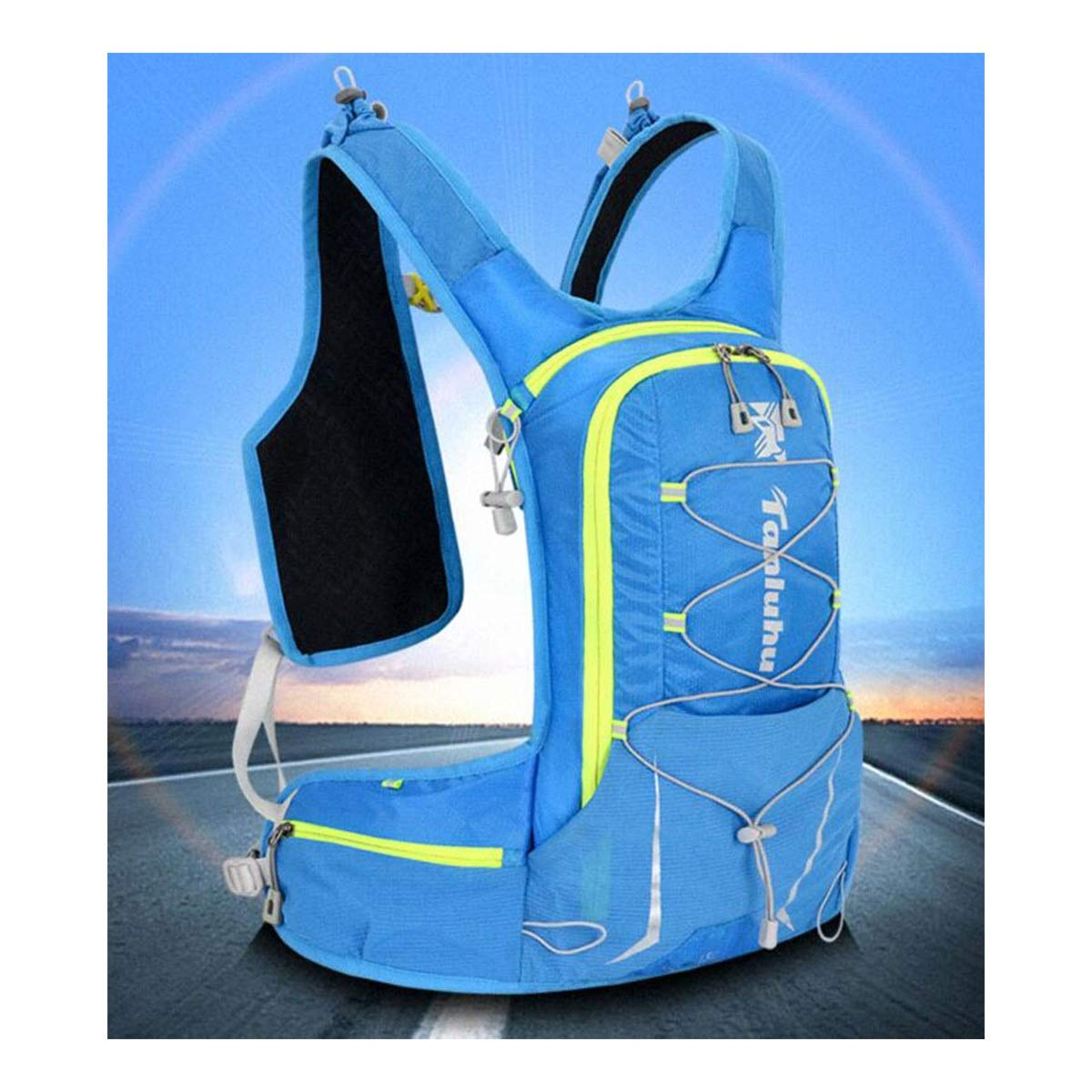 Qingduqijian Vest Backpack Lightweight Small Capacity Hiking Backpack Running Backpack Color : Blue Male and Female Marathon Cycling Backpack