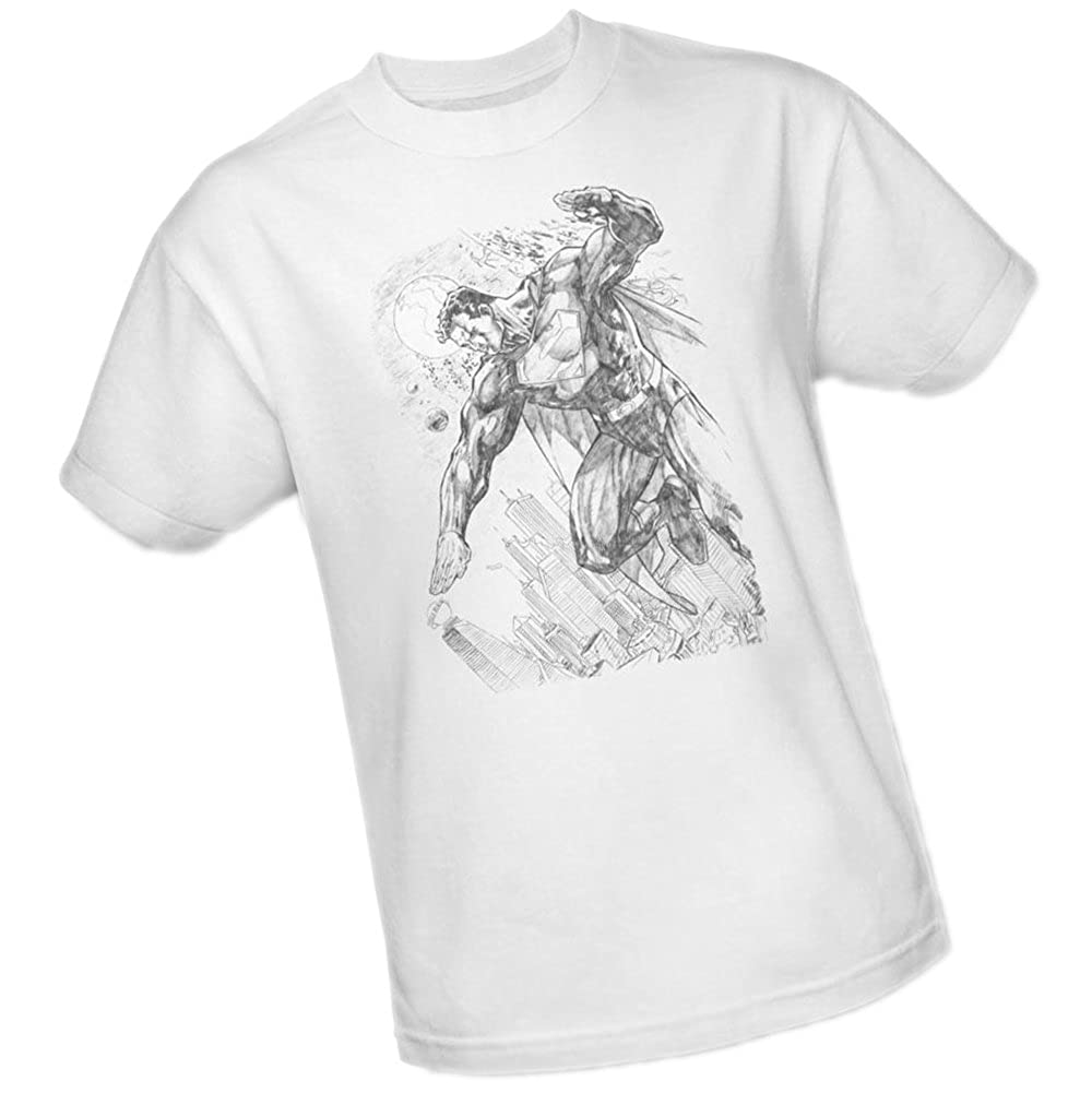Amazon com pencil sketch city superman youth t shirt clothing