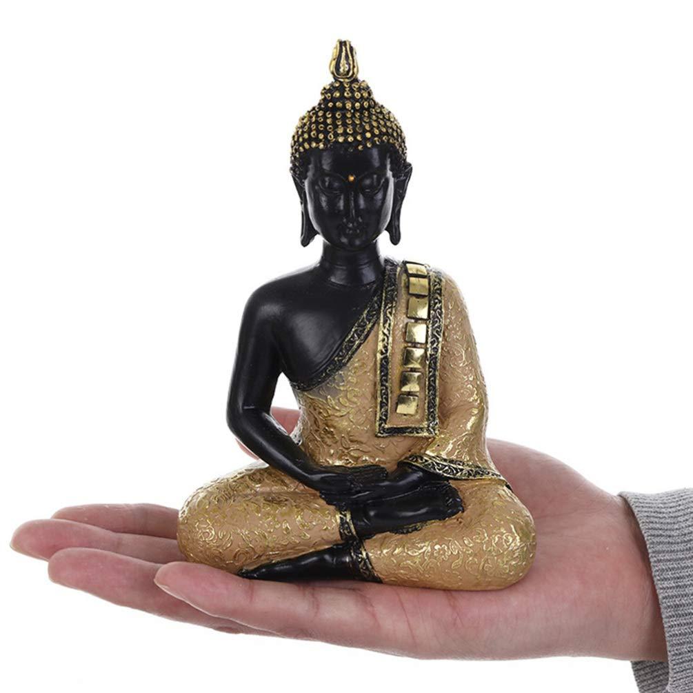 VOSAREA Statua di Buddha Tailandese in Resina Seduto Decorazione Ornamento di Buddha per la Meditazione del Ristorante del Ministero degli Interni