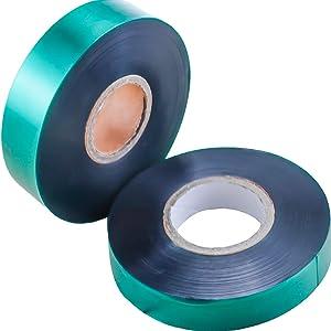 YG_Oline 2 Rolls 350 Ft Garden Stretch Tie Tape Plant Ribbon Tape Stretchy Plant Tie for Patio Plant