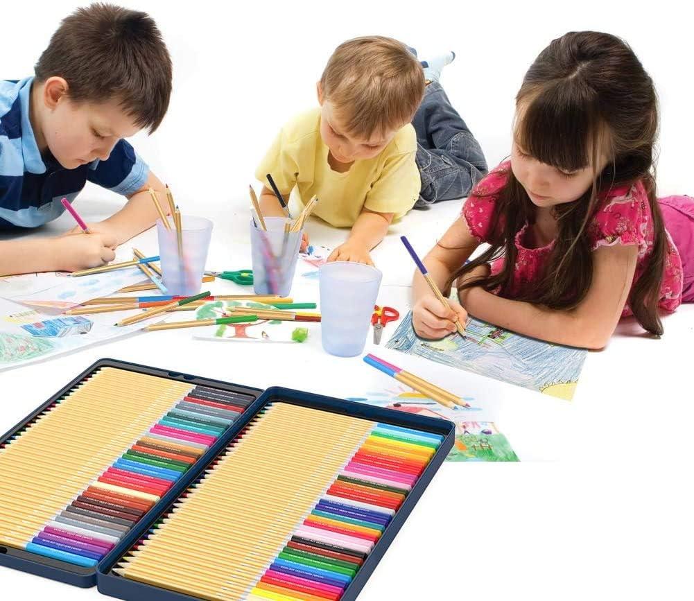 TOPERSUN 72 Crayon de Couleurs Aquarelles Num/érot/és Set de 72 Couleurs Aquarellables Uniques Pr/é-taill/é pour Coloriage en Bo/îte en M/étal Cadeau pour Les Adultes Enfants Artistes