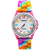 Geneva WT0031 – Children's Wrist Watch, Silicone Strap