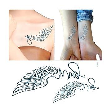 Temporary Tattoos Engelsflügel Tattoos Aufkleben Für Körper 4st Ein