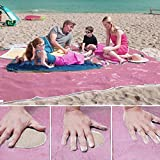Beach mats Oversize Outdoor Camping Leakage Beach Picnic Blanket Soft Lightweight and Sand proof Nylon Portable Quick Drying (150*200cm )