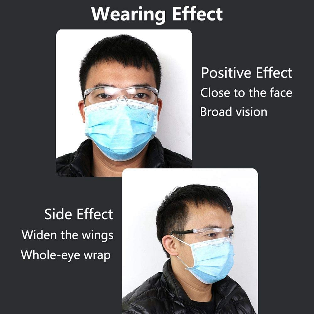 Forart Safety Glasses Anti Virus Glasses Safety Goggles High Definition Anti-dust Anti Fog Adjustable Glasses for Adults Kids