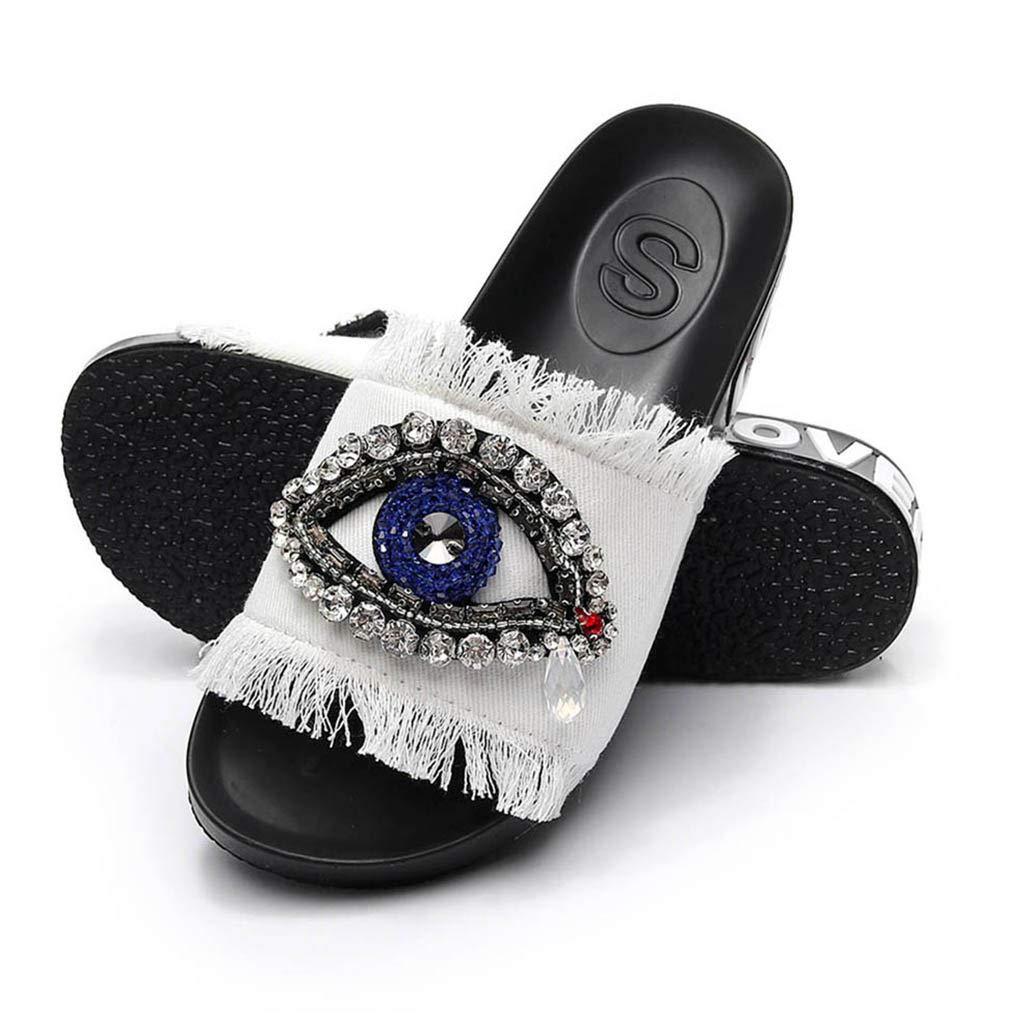 VECDY Nouveau Produit Ventes /ét/é Printemps Femmes Multi-Code Facultatif Dames Filles Cristal Sandales Plates Pantoufles Chaussures De Plage