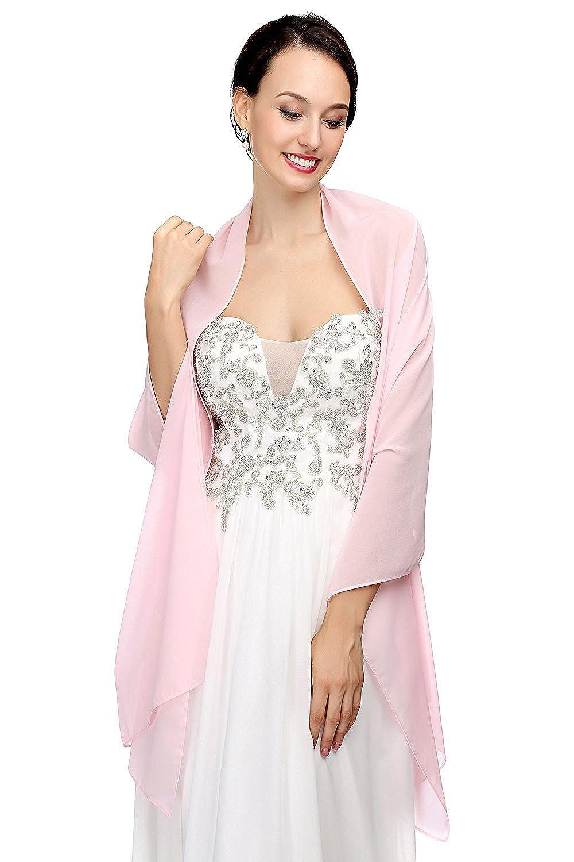 MicBridal® Chiffon Stola Schal für Brautkleider Abendkleider ...