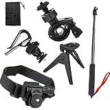 pangshi® Fahrrad Helm Stativ Berg + Einbeinstativ für Sony Action Cam HDR-AS15 AS20 AS30V AS100V