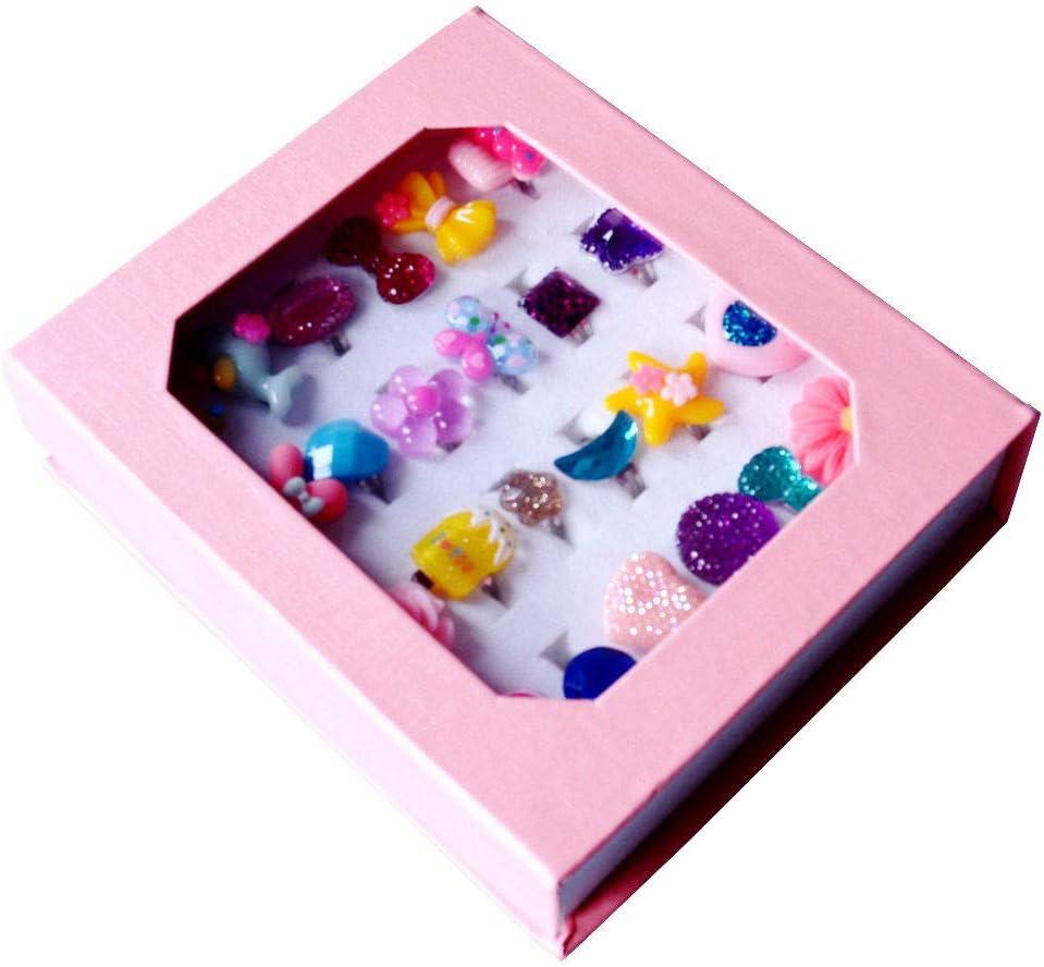 Amazon.com: SWARKOL 24 anillos de joyería ajustables para ...