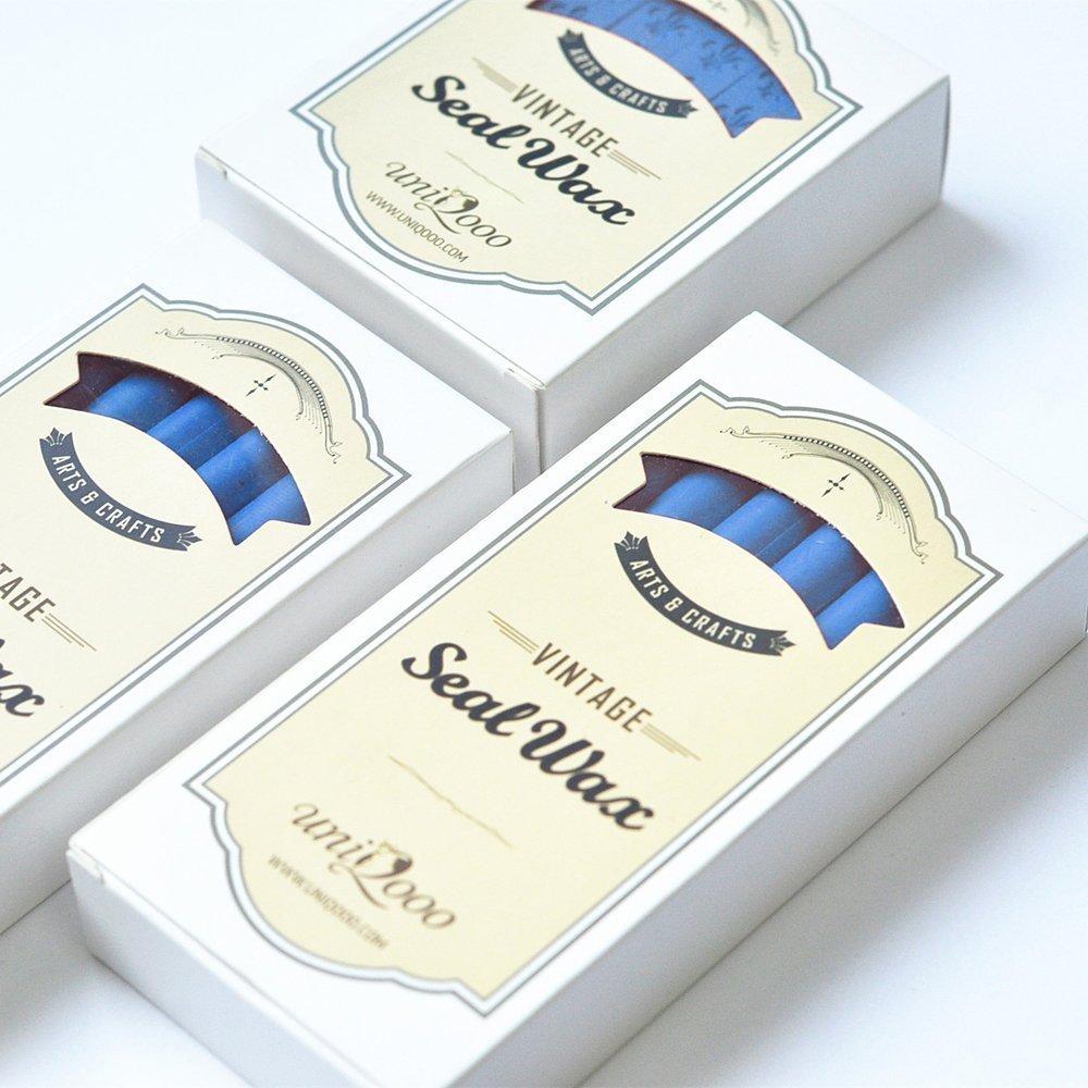 UNIQOOO Arts & Crafts 12 Black Sealing Wax Sticks for Wax Stamp