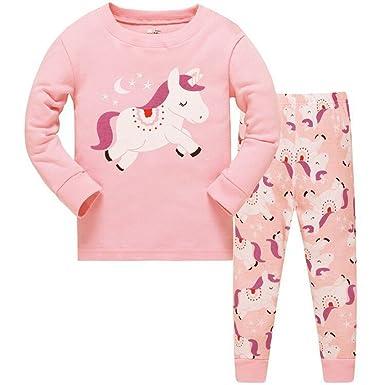 81ca95974e4 Winzero Girls Christmas Pyjamas Set Cute Kids Long Sleeve Cotton Pjs Pajama  Sleepwear Tops Shirts