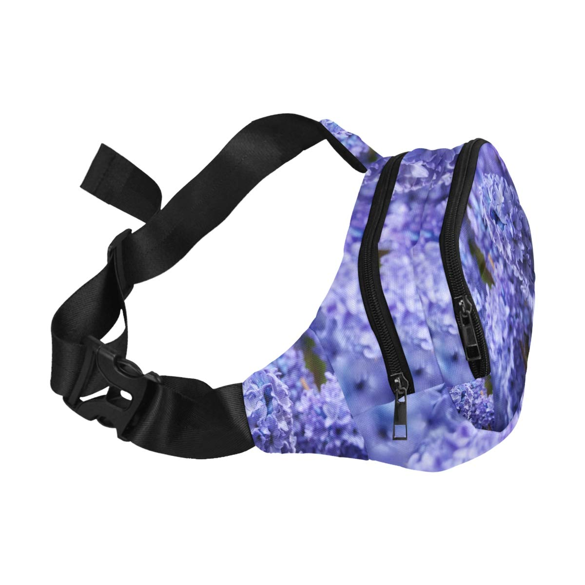Beautiful Multi-colored Hyacinths Fenny Packs Waist Bags Adjustable Belt Waterproof Nylon Travel Running Sport Vacation Party For Men Women Boys Girls Kids
