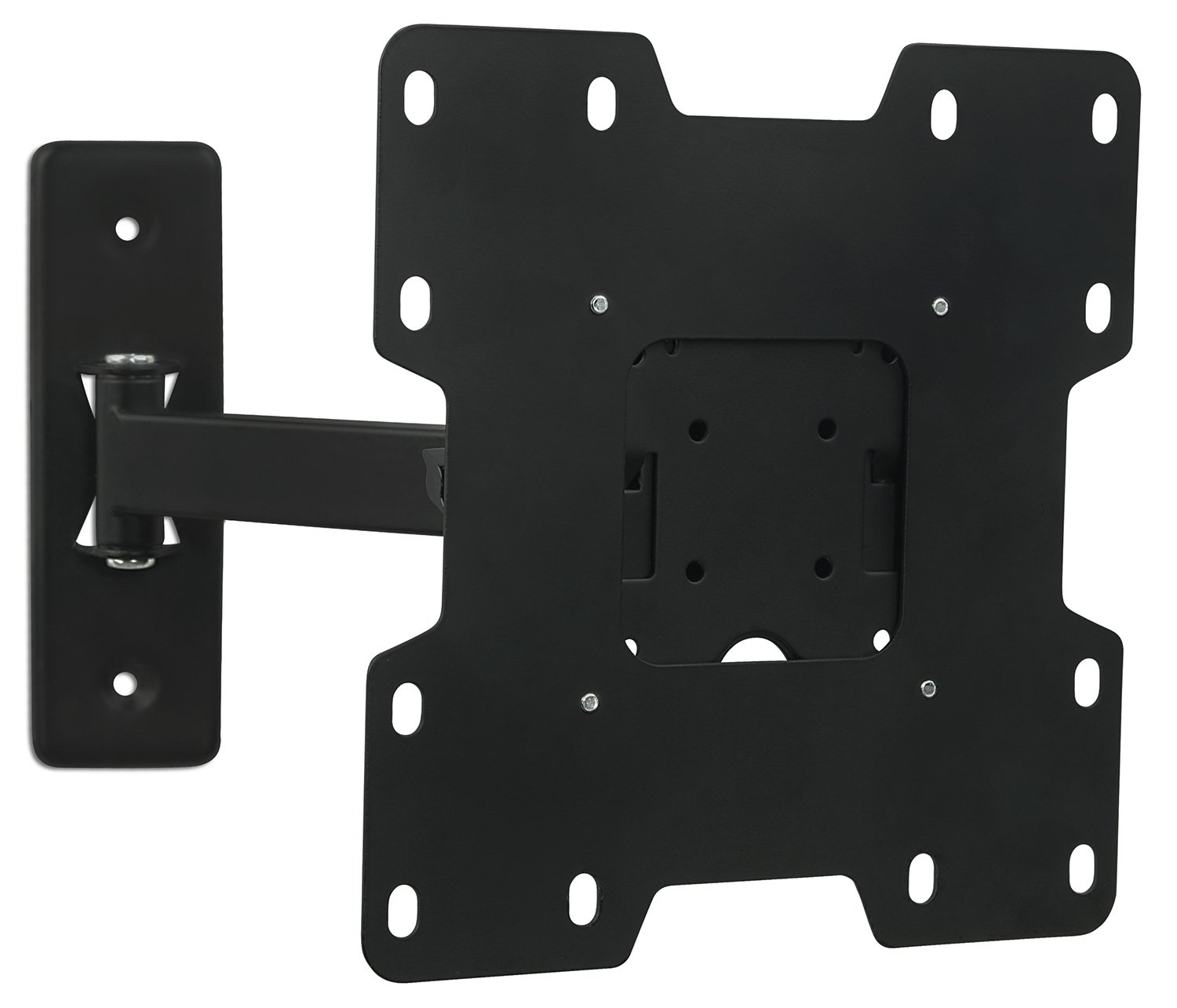 Mount-It! Articulating TV Wall Mount and Computer Monitor Mount for 23'' - 37'' LCD/LED/Plasma/4K Flat Panel Screen TV (VESA Standard up to 200x200mm), 55 Lbs. Weight Capacity, Black (MI-2701)