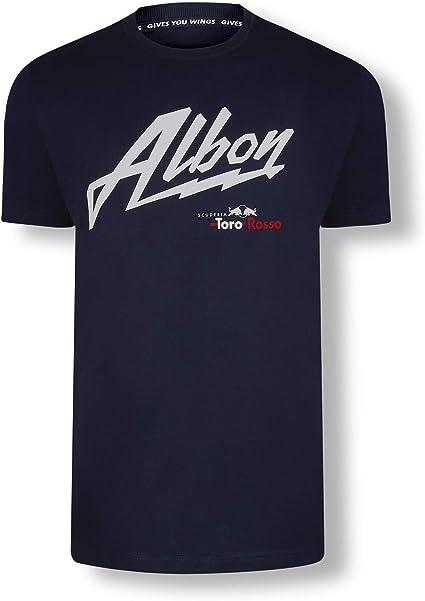 Red Bull Toro Rosso Alexander Albon Driver Camiseta, Blanco Hombre Medium Top, STR F1 2019 Original Ropa & Accesorios: Amazon.es: Ropa y accesorios