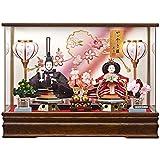 京寿 雛人形 親王飾り ケース飾り 間口53×奥行32×高さ37cm 親王アクリルケース飾り YN2234HC ケース入り 桃の節句 ひな人形