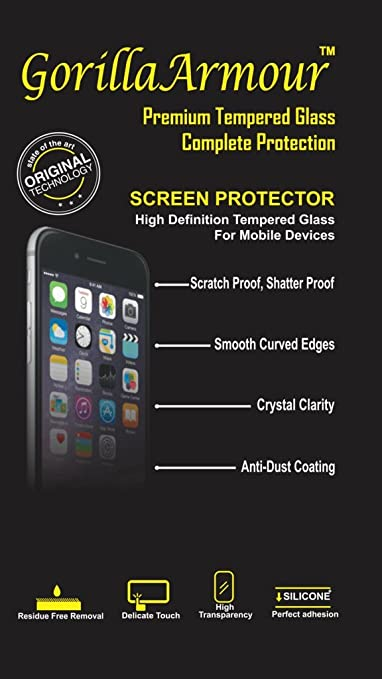 Gorilla Armour Tempered Glass for Motorola Moto G5 Plus | 0.3 mm Thin, Oil Coated Tempered Glass for : Motorola Moto G5 Plus Screen Protectors
