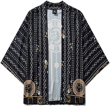 TINGS Hombres Kimonos para Mujer Ropa Japonesa Cardigan de ...
