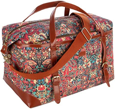 BAOSHA Large Women's Colorful Travel Duffel Weekender Bag Overnight Carry-on Tote Bag HB-39 HS