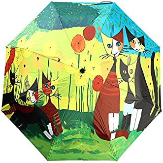 [Free Shipping] Folding UV Protection Oil Painting Parasol Rain Bumbershoot Umbrella // Protección uv plegado pintura al óleo sombrilla lluvia Bumbershoot paraguas