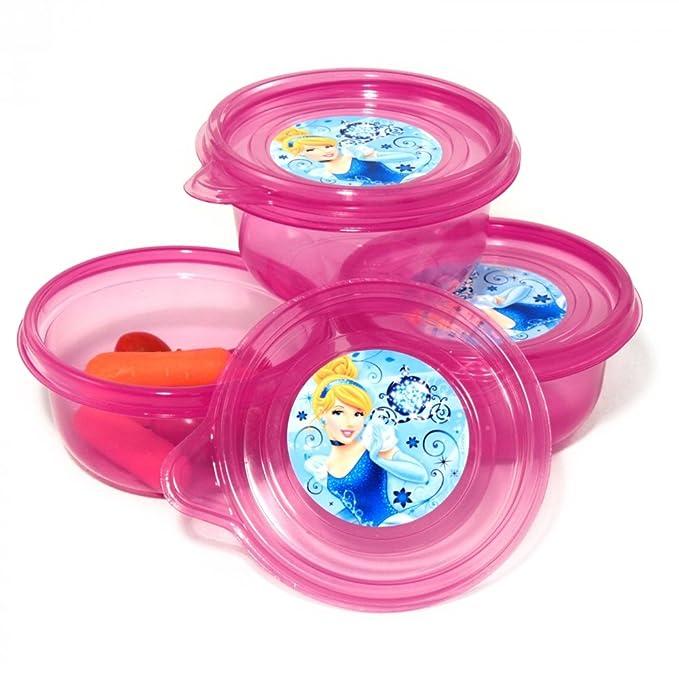 3pk Disney Princesas pequeñas recipiente para alimentos Freeze ...