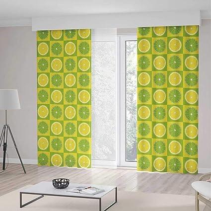Amazon.com: YOLIYANA Window Curtains Blackout Lime Green ...