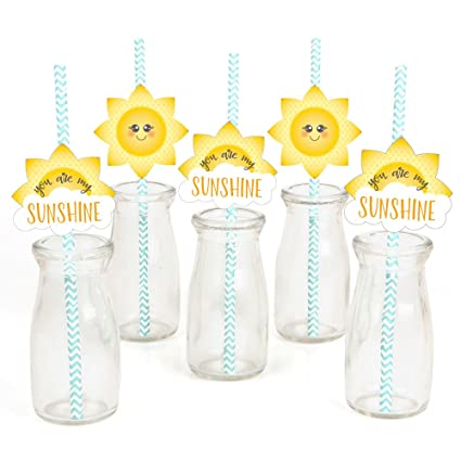 Amazoncom You Are My Sunshine Paper Straw Decor Baby Shower Or