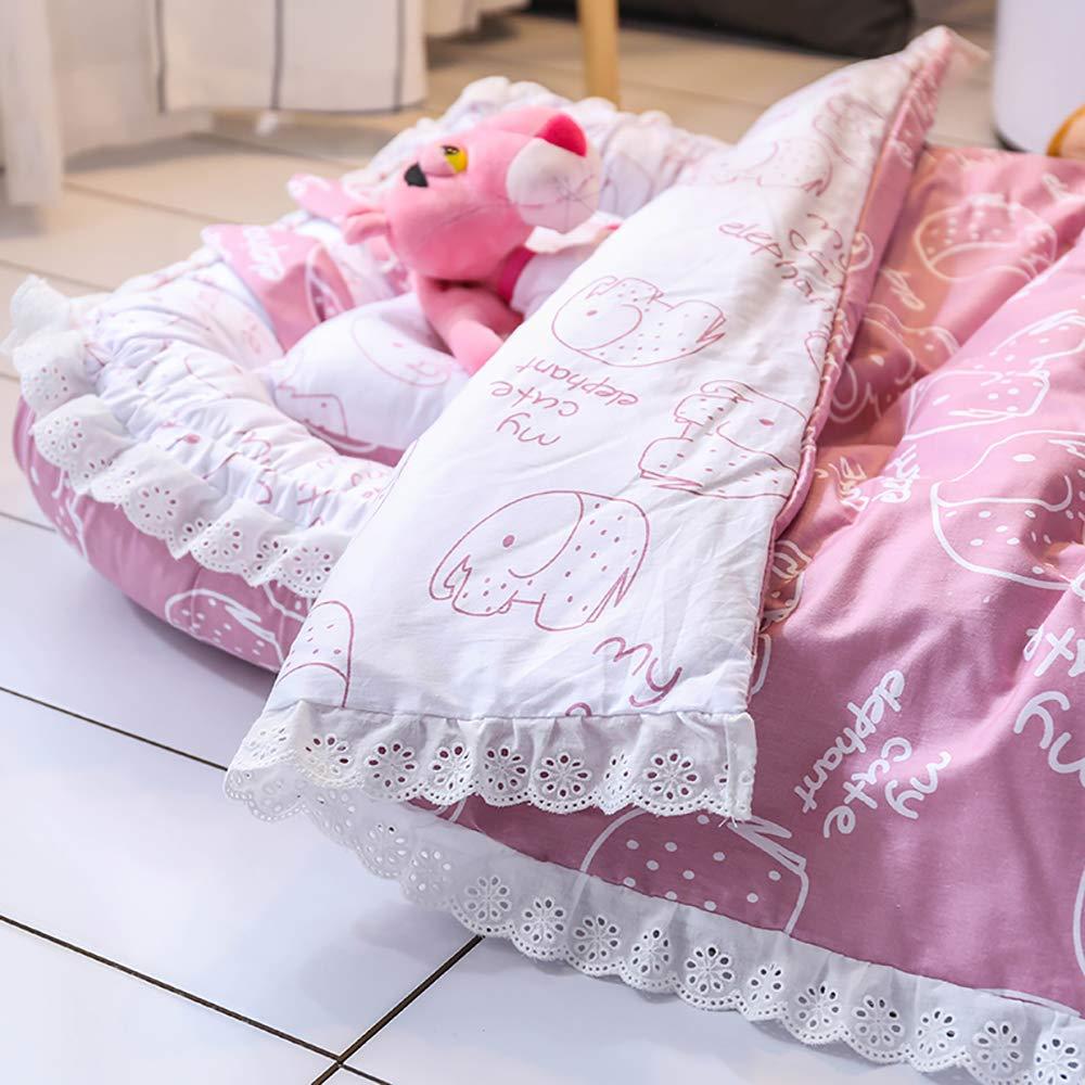 lila Elefant 100/% Baumwolle 0-24 Monate TEALP Babynest Multifunktionales Kuschelnest mit Babydecke Antiallergisch Nestchen Reisebett f/ür Babys und S/äuglinge