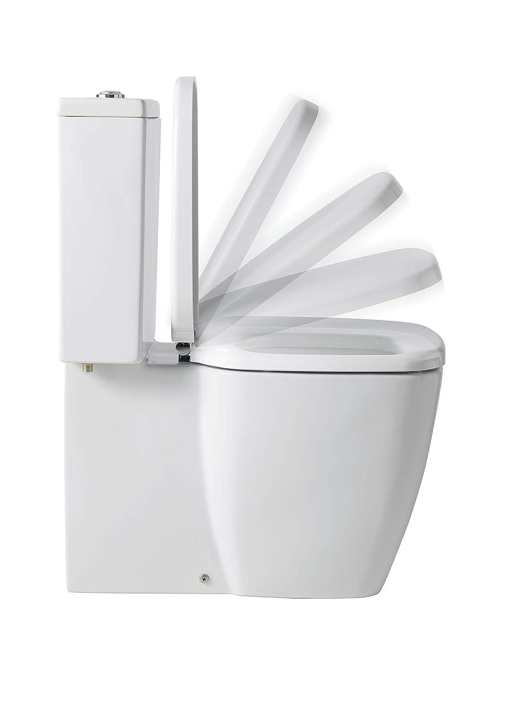 Ref 515700 39.5 x 5.4 x 47.5 cm Acabado Blanco Gala G5157001 Tapa y Asiento Amortiguado para Inodoro Colecci/ón Universal