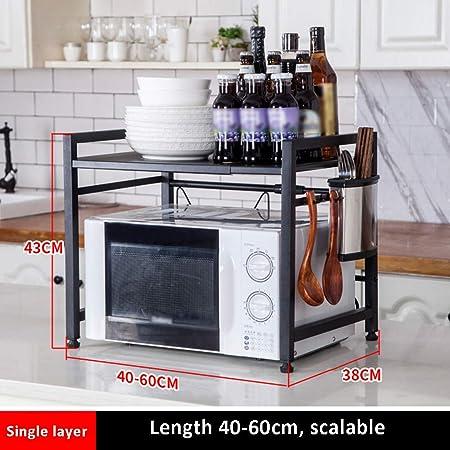 KTYXDE - Estante de cocina de acero inoxidable para microondas ...