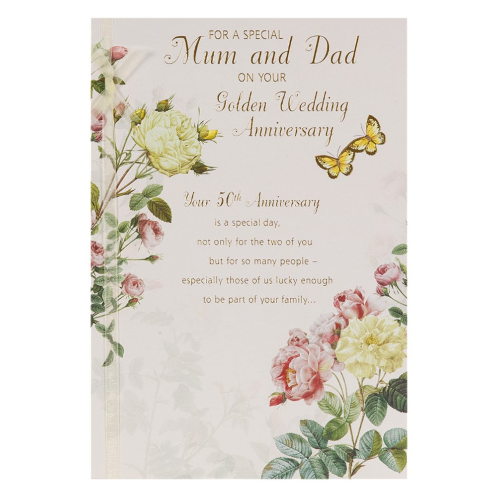 Hallmark 50th golden anniversary card for mum and dad heart warming hallmark 50th golden anniversary card for mum and dad heart warming memories large amazon office products m4hsunfo