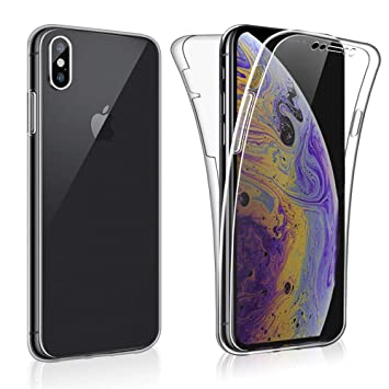 official photos 348c0 73d30 iPro Accessories iPhone XR Case, iPhone XR Front And Back Case, iPhone XR  Gel Case, iPhone 360 Protection Case, Transparent Full Body Protection  Clear ...