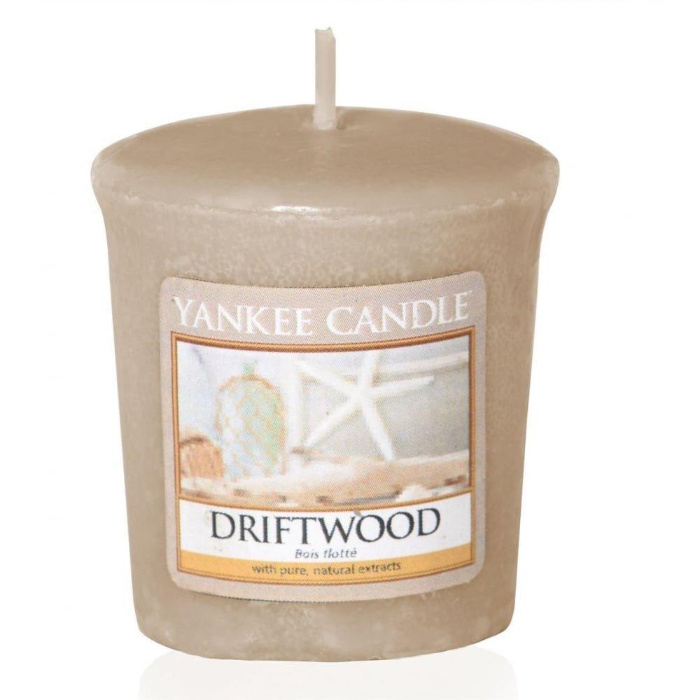 YANKEE CANDLE Votive Driftwood Candela, Cera, Marrone, 4.8x 4.5x 5.3cm 1533671E