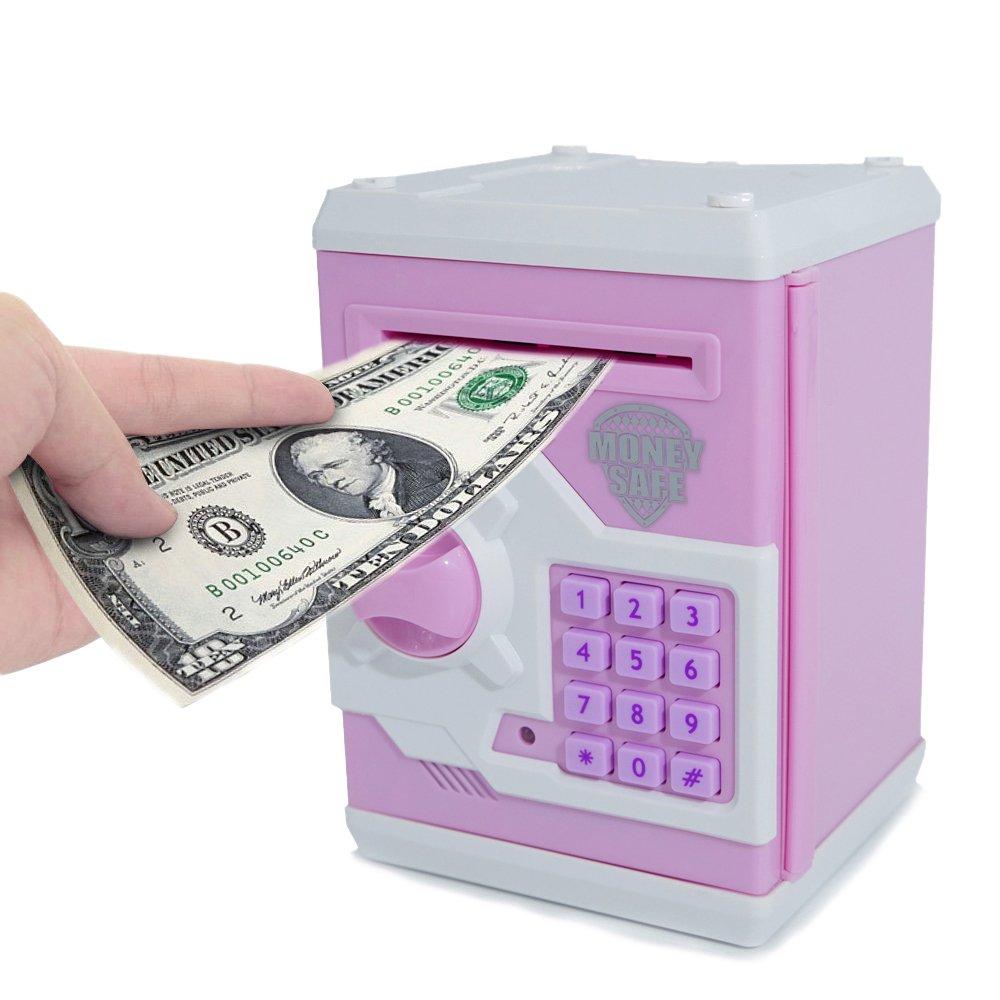 apuppy electrónica dinero Banco Cartoon contraseña Piggy Banco Efectivo Moneda puede juguete