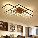 GrowtherHOME Minimalism Livingroom Bedroom led ceiling Lights Rectangle/Square Modern led Ceiling Lamp Fixtures plafonnier luminaria,white color,2 Heads L46xW46CM,Brightness dimmable
