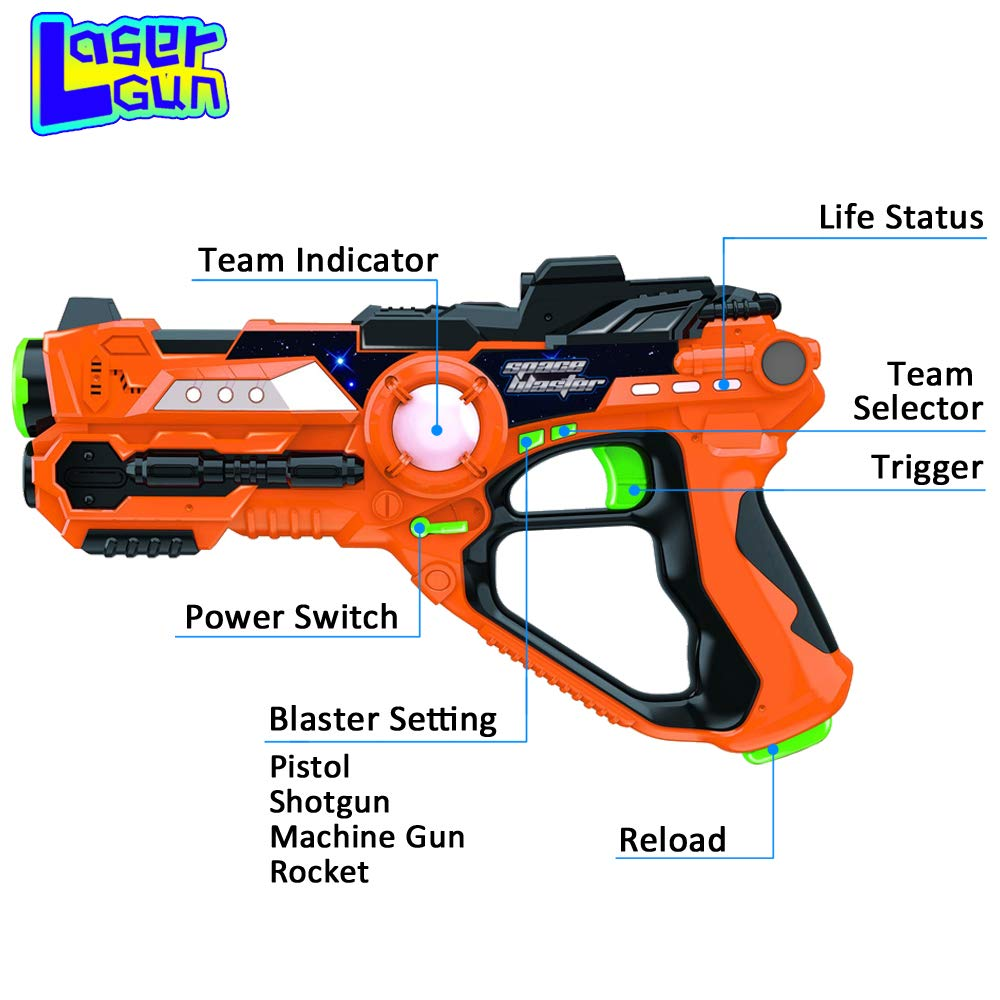 Laser Tag-Laser X Recoil Laser Tag Lasers Gun Toy Gun Set 2-Player Space Blaster Toys for Boy Gift Laser Tag Sets with Gun Games by Toyard (Image #6)
