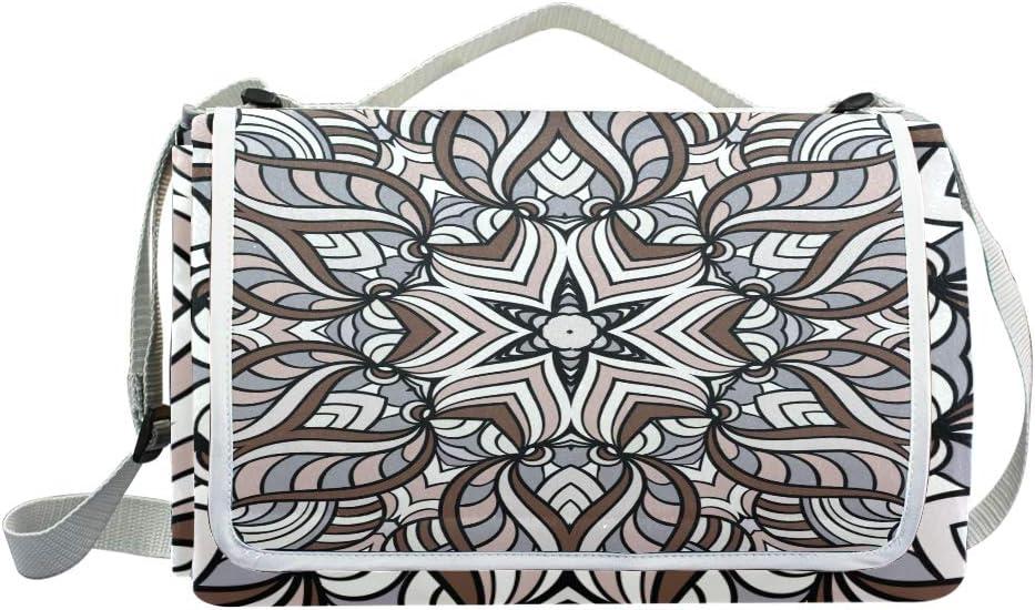 XINGAKA Coperta da Picnic Tappetino Campeggio,Arte Senza Cuciture di Vettore del Modello dell'icona dell'aeroplano,Giardino Spiaggia Impermeabile Anti Sabbia 2