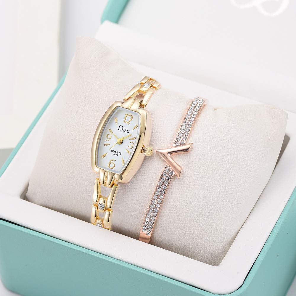 Amazon.com: Iuhan Wrist Watches Bracelet for Women Girls Holiday Deals, Luxury Lady Temperament Watch Bracelet Set Chain Watch Birthday Valentines Gifts ...
