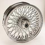 Ultima Complete Chrome 80 Spoke Rear Wheel 18'' x 8.50'' Wide Tire w/ Billet Hub