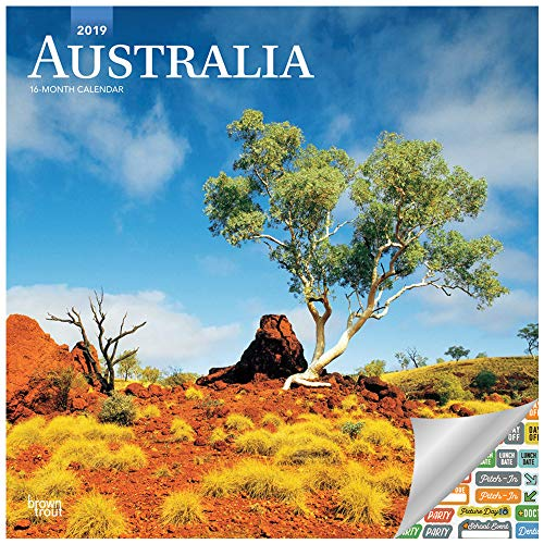 - Australia Calendar 2019 Set - Deluxe 2019 Australia Wall Calendar with Over 100 Calendar Stickers (Australia Gifts, Office Supplies)