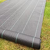 Yuzet 09-001006-00-10 2m x 10m 100g Weed Control Ground Cover Membrane Landscape Fabric Heavy Duty