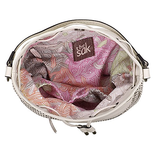 Pink Guava The Stone SAK Ukiah Drawstring Perf Womens Handbag with Leather Purse FXqTF