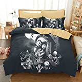The Nightmare Before Christmas Sets - American Size Duvet Cover and Pillowcase AB Version Brushed Polyester Queen