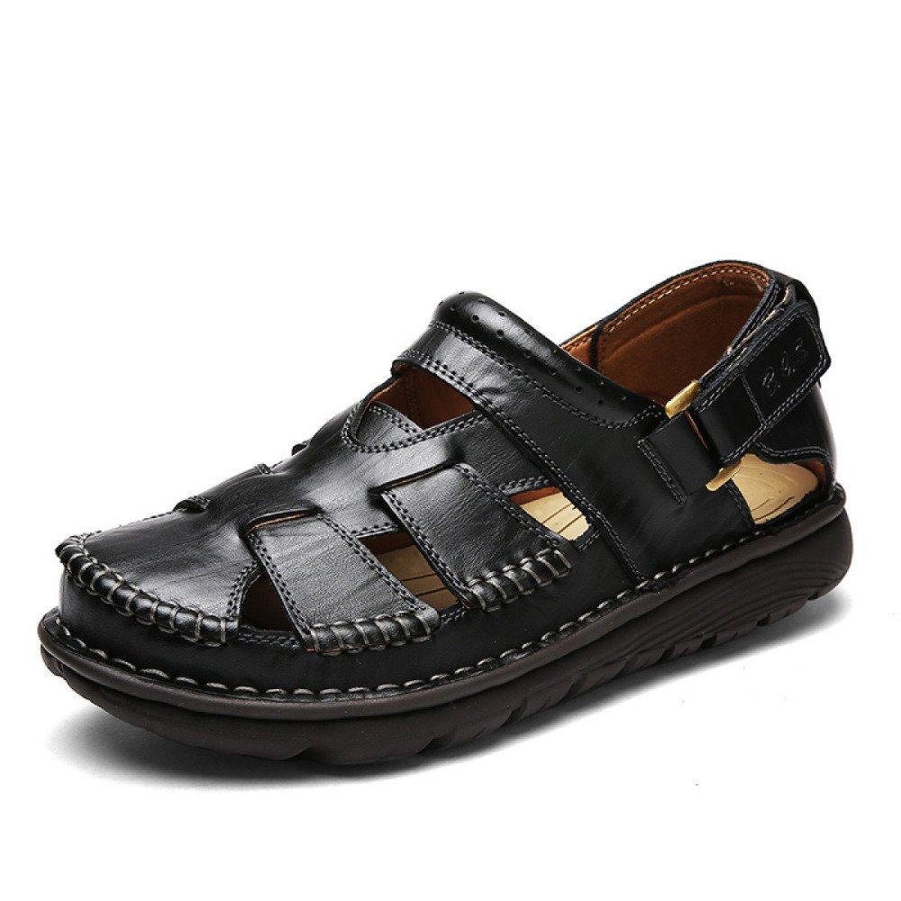 Sandalias Hechas A Mano Verano Baotou Beach Shoes Antideslizante Al Aire Libre 43 EU|Black